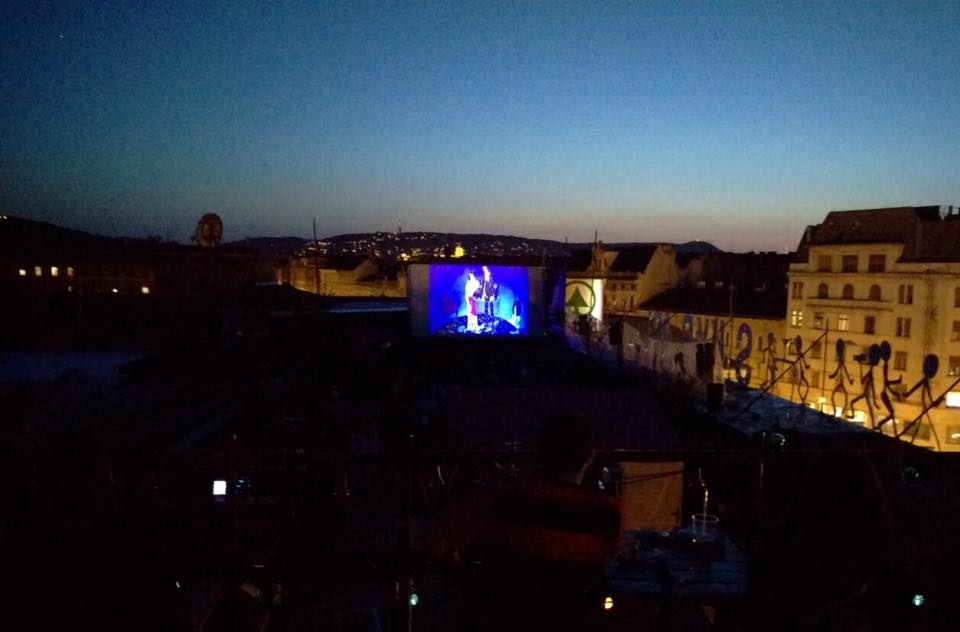 The Screening of Kovasznai's animated feature film Bubble Bath at the Budapest Rooftop Cinema (2017)