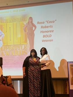 accepting award