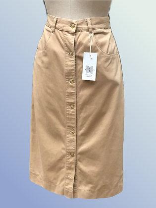 Beige long cotton skirt