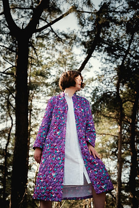 Purple housecoat