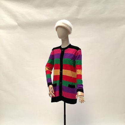 Bright multicolored striped cardigan
