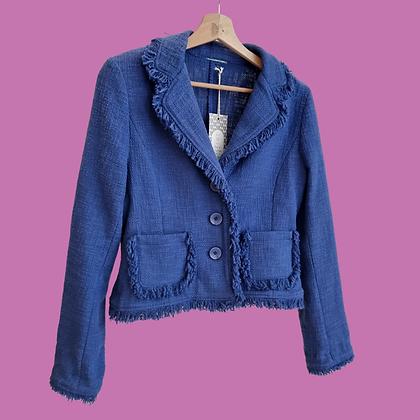 Blue fringend short jacket