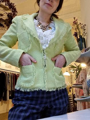 Fluo green fringed jacket