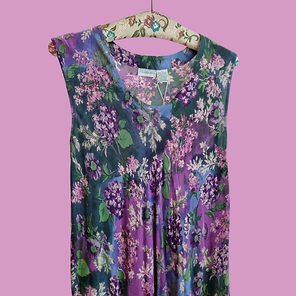 Thin flow flower dress