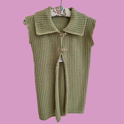 Handmade green vest