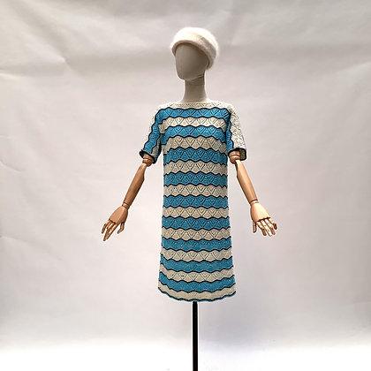 Handmade crochet wave dress