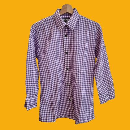Purple gingam shirt