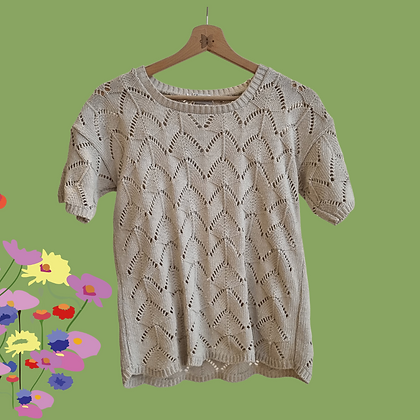 Pattern knitted 't shirt