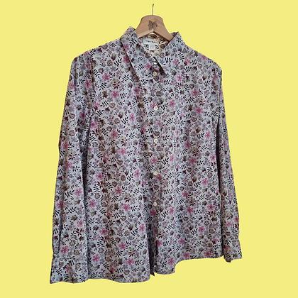 Lilac little flowers shirt