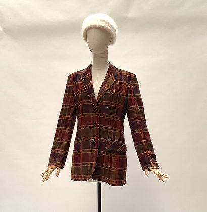 Rusty colors checked jacket