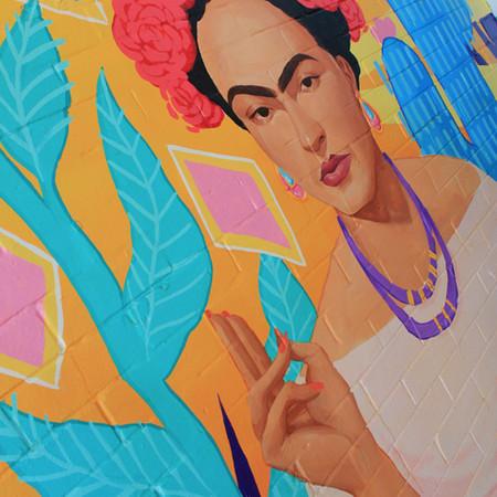 Tres Salsa mural - Frida Kahlo portrait (2018)
