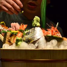 sashimi with fish