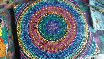 Rainbow Mandala Dotwork