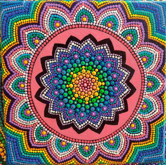 Rainbow Dot Mandala