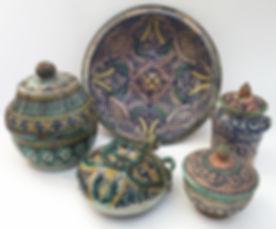 Moroccan Ceramics, late 19th Century, Fez