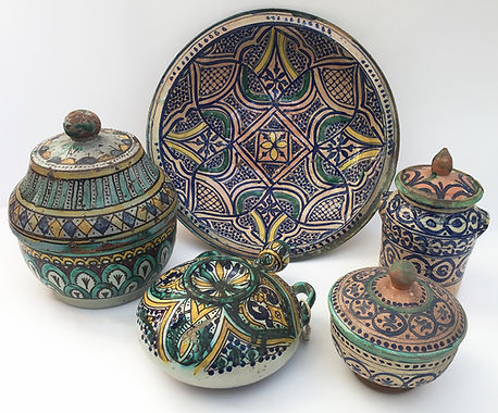 Moroccan Ceramics, late 19th Century, Fez