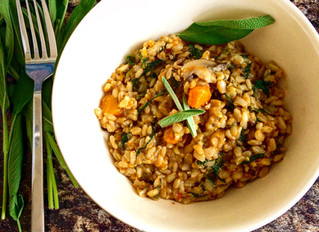 FOOD BLOG - Brown Rice Risotto with Pumpkin, Mushrooms & Sage