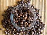 Coffee Beans in a Glass Cup on a Bamboo Mat - 02.jpg