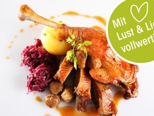 Martini-Gansl Essen mit Junker Präsentation, 9. und 10. November bis 22. Uhr