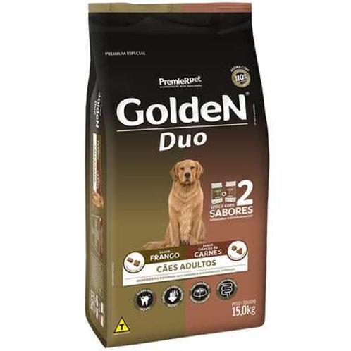 Ração Golden Duo para Cães Adultos Sabor Frango e Carne 15 Kg