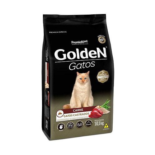 Ração Golden para Gatos Adultos Castrados Sabor Carne - 10 Kg