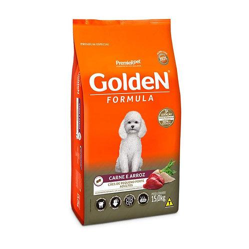 Ração Golden Fórmula Para Cães Adultos Pequeno Porte Sabor Carne e Arroz 15Kg