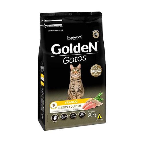 Ração Golden para Gatos Adultos Sabor Frango - 3 Kg