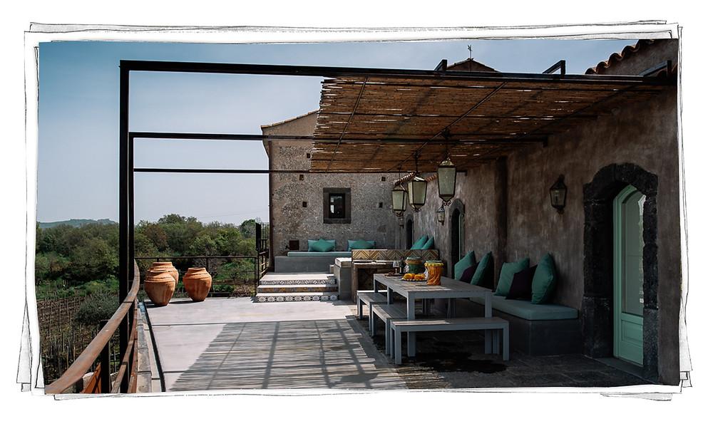 Tenuta di Fessina Etna Sicilia Wine Terrace Aperitivo