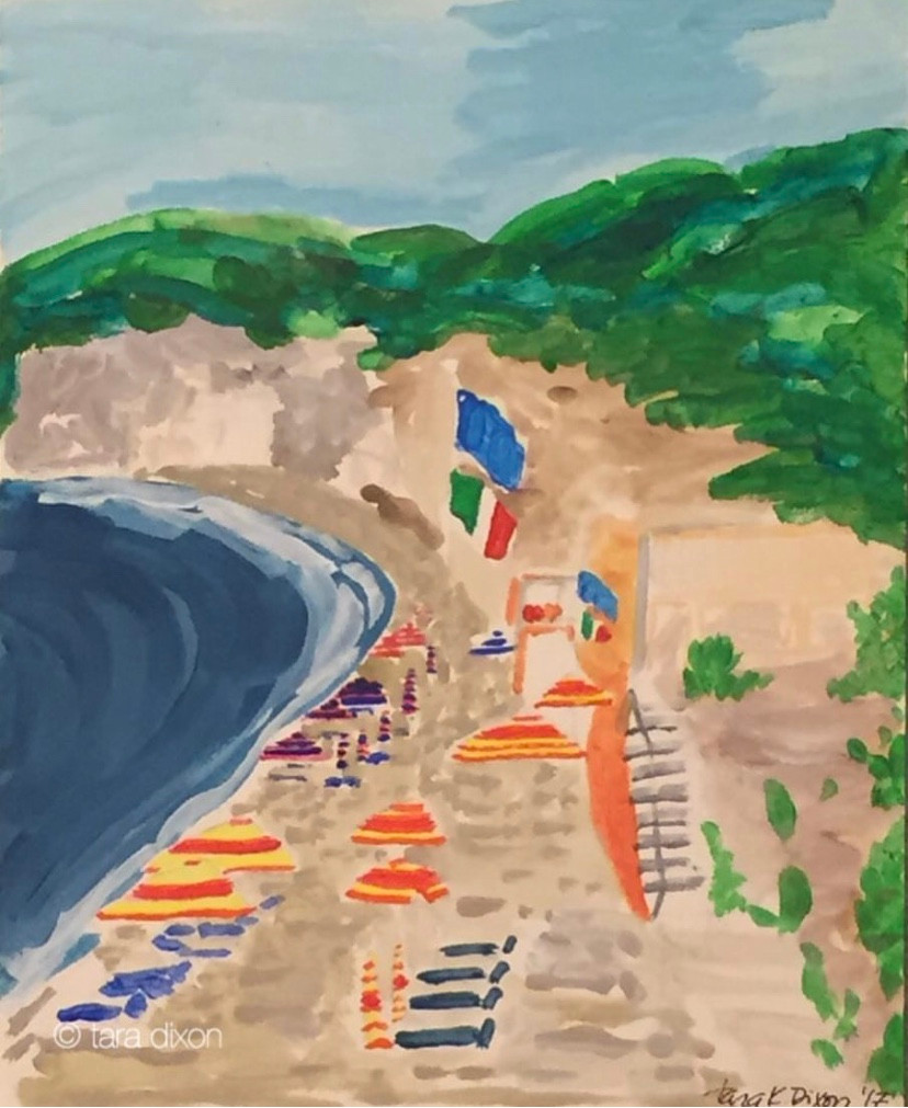 Beach Scene, Ischia, Italy