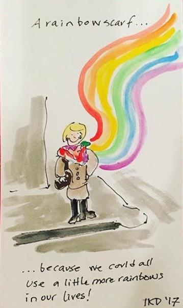 A Rainbow Scarf