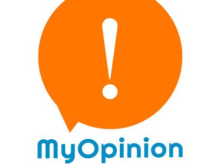 A nova logo da My Opinion