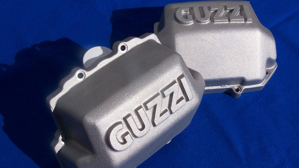 Moto Guzzi Big Block Valve Covers Silver (set of 2)