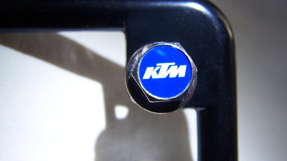 MotoBolts License Plate Bolts KTM Blue
