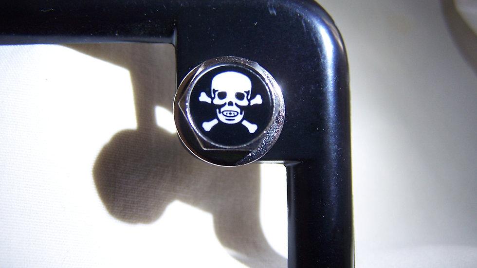 MotoBolts License Plate Bolts Skull & Crossbones