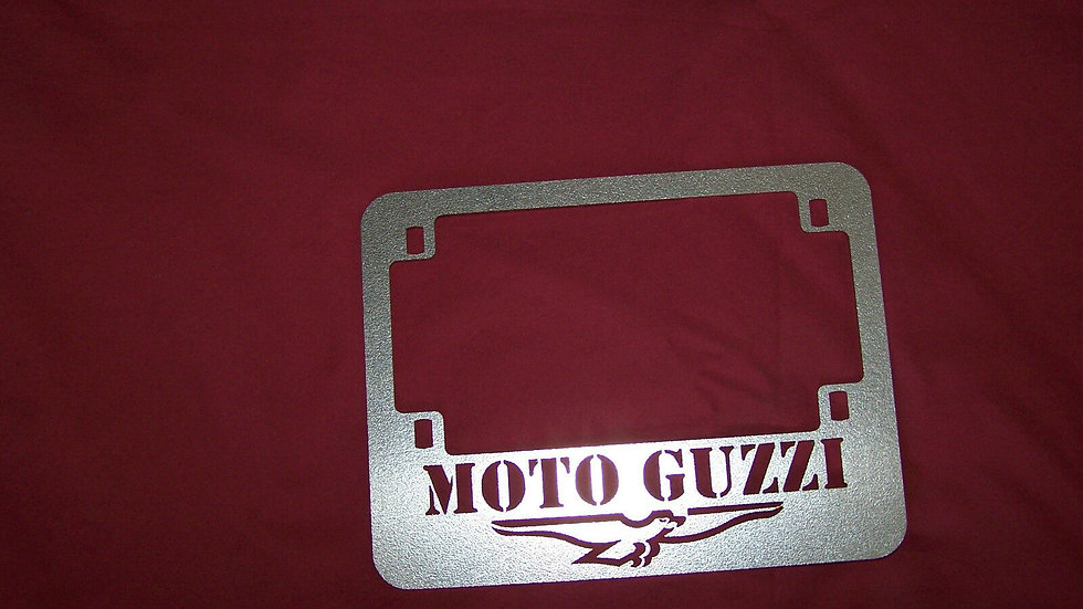 Motorcycle Moto Guzzi License Plate Frame Stainless LeMans Eldo Ambo 850 1000