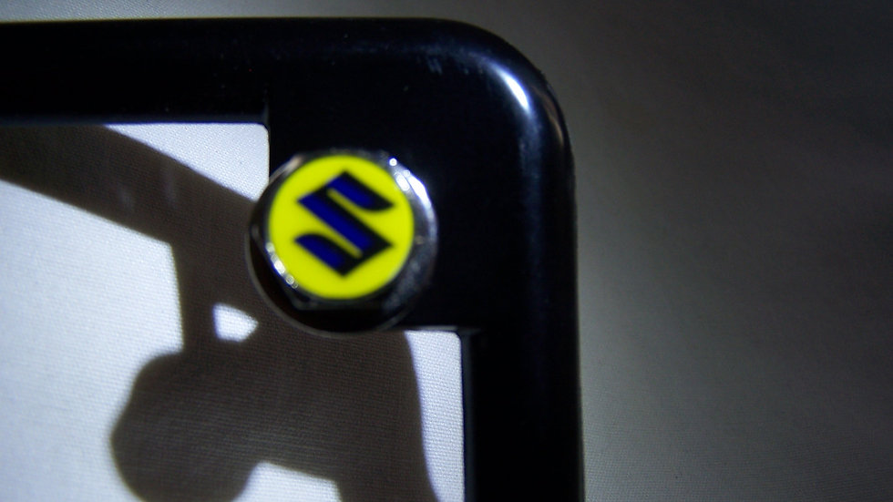 MotoBolts License Plate Bolts Suzuki Script