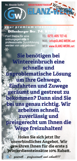 Flyer Winterdienst