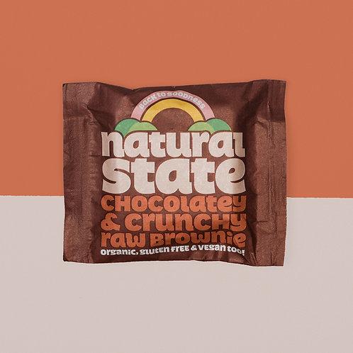 chocolatey & crunchy raw brownie