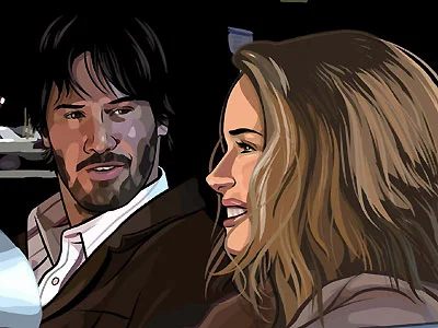 I want to get paid to lovingly trace Keanu Reeves' face.