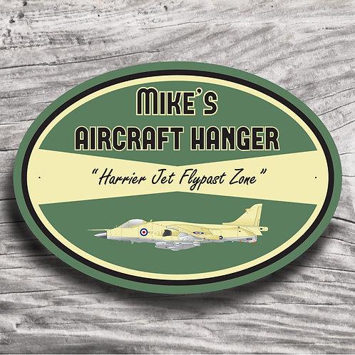"Personalised ""Harrier Jet"" Aeroplane Sign"