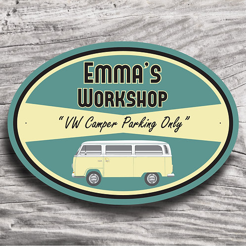 """Personalised V W """"Classic Camper -The Bay"""" Sign"""