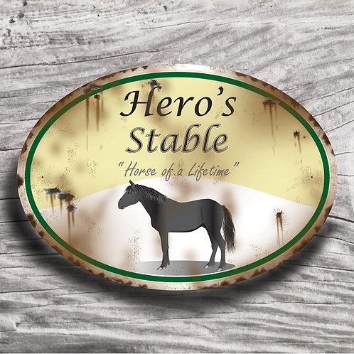 Personalised horse sign: Sports horse, black horse