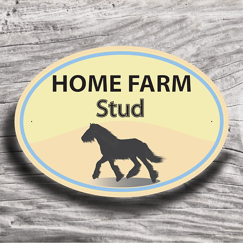 Personalised horse sign: Native cob, Silhouette