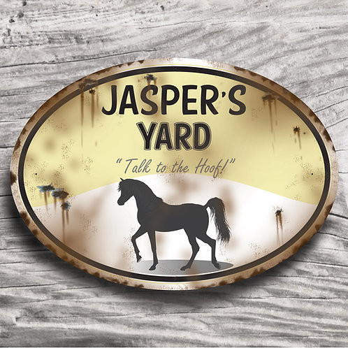 Personalised horse sign: Arab-type, Silhouette of horse/pony