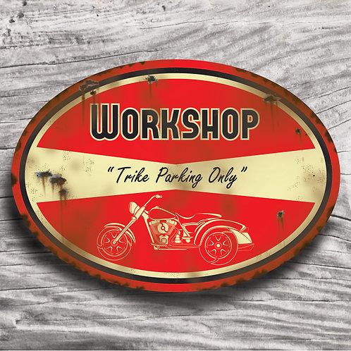"""Personalised Motorbike """"Trike"""" Sign"""