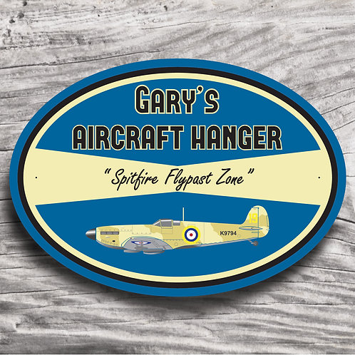 "Personalised ""Spitfire"" Aeroplane Sign"
