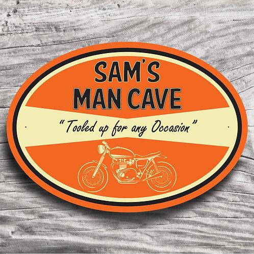 "Personalised Motorbike ""Cafe Racer"" Sign"