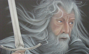 Airbrushing on Canvas