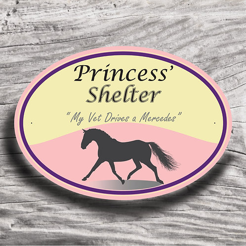 Personalised horse sign: Sports pony - Silhouette of pony