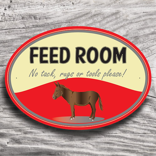 Personalised horse sign: Donkey/mule, brown donkey